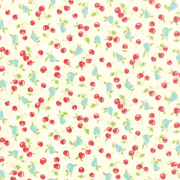 Moda Fabrics ~ Vintage Picnic ~ Cherries and Pears Cream