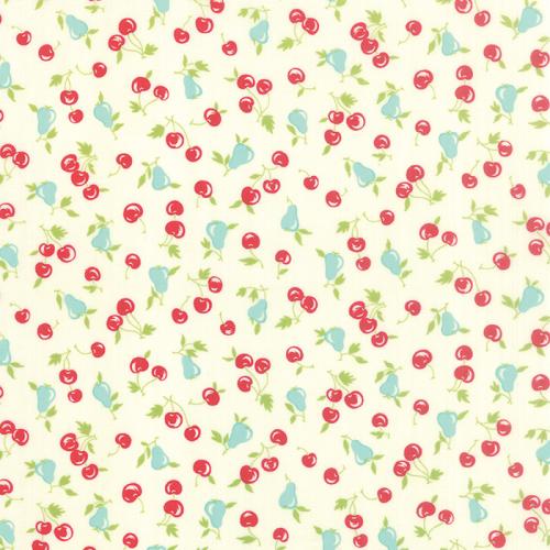 Moda Fabrics ~ Vintage Picnic ~ Cherries and Pears Cream