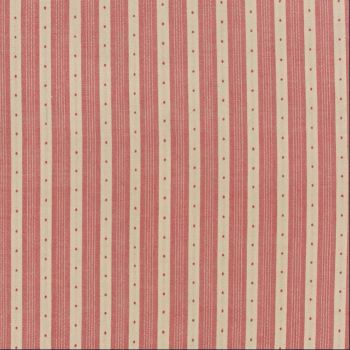 Moda Fabrics ~ Petite Prints & Wovens ~ Dotty Stripe Rouge