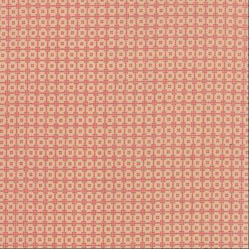 Moda Fabrics ~ Petite Prints Deux ~ Lunetta Oyster on Rouge