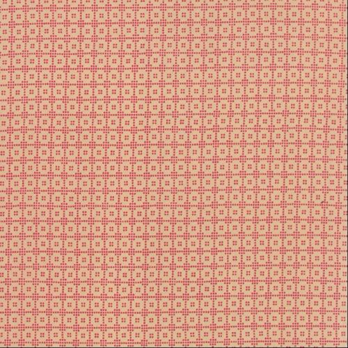 Moda Fabrics ~ Petite Prints Deux ~ Lunetta Oyster on Rouge (Red)