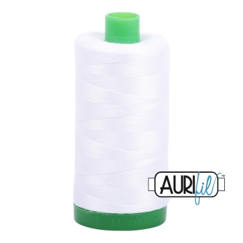 Aurifil ~ 40 wt Cotton ~ 2024 ~ White