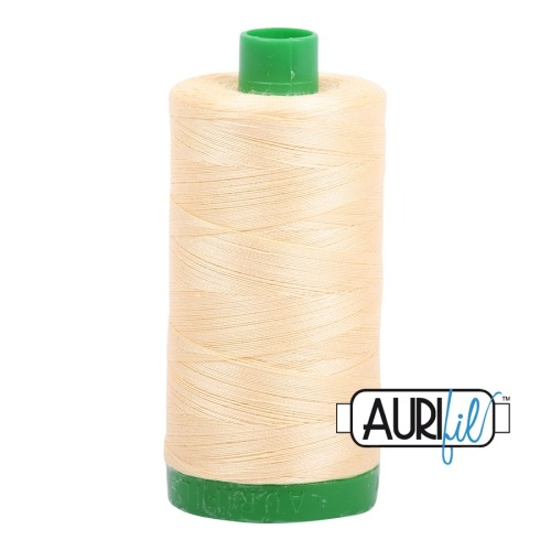 Aurifil ~ 40 wt Cotton ~ 2105 ~ Creamy Yellow