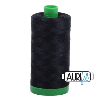 Aurifil ~ 40 wt Cotton ~ 2692 ~ Black