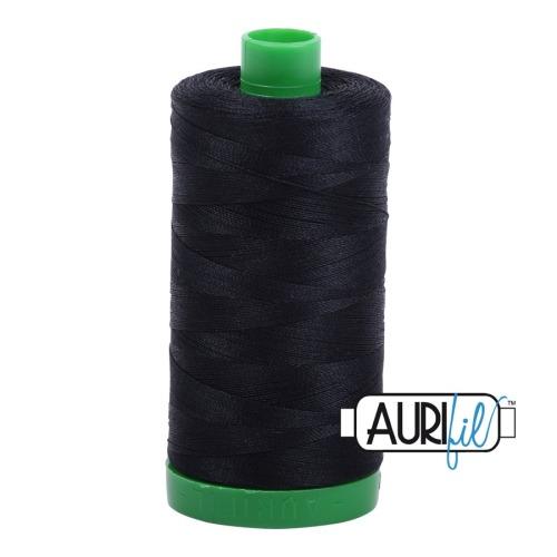 Aurifil ~ 40 wt Cotton ~ 2692 ~ Black