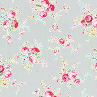 Lecien Fabric ~ Flower Sugar ~ Garden Posie Grey