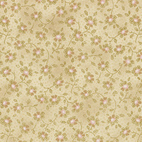 Lecien Fabric ~ Mrs Marchs Collection ~ Trailing Floral Custard