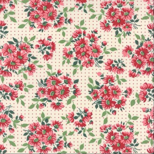 Moda Fabrics ~ Bread 'N' Butter ~ Dotted Daisy Ivory