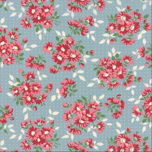 Moda Fabrics ~ Bread 'N' Butter ~ Dotted Daisy Light Blue
