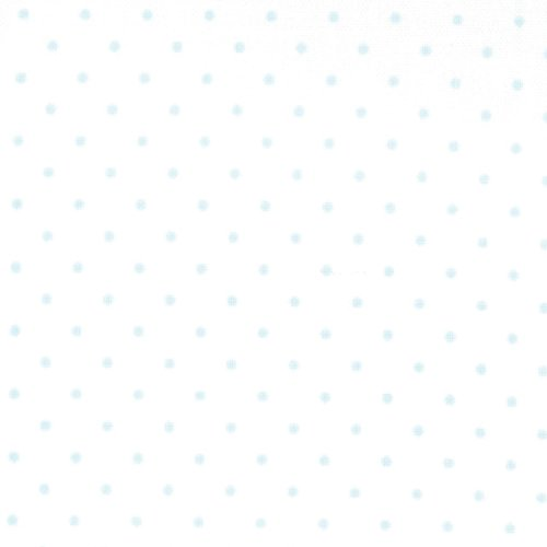 Moda Fabrics ~ Essential Dots ~ Tiny Dot in White with Baby Blue Spots