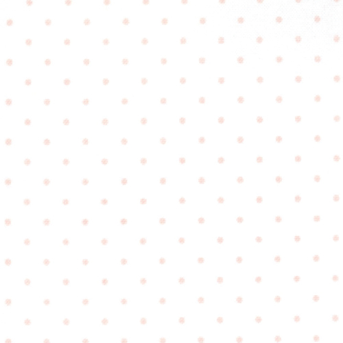 Moda Fabrics ~ Essential Dots ~ Tiny Dot in White with Baby Pink Spots