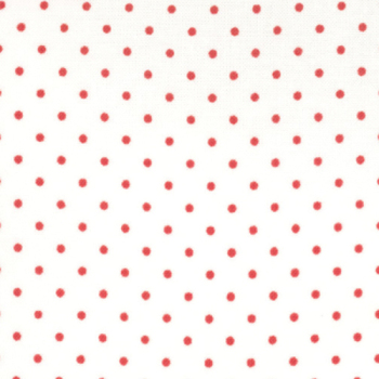 Moda Fabrics ~ Essential Dots ~ Dot in White with Red Spots