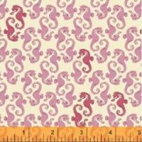 Windham Fabrics ~ Mendocino ~ Sea Horses Pink on Cream