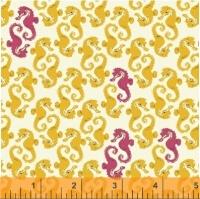 Windham Fabrics ~ Mendocino ~ Sea Horses Yellow on Cream