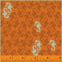Windham Fabrics ~ Mendocino ~ Sea Horses Orange