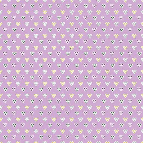 Penny Rose Fabrics ~ Hope Chest 2 ~ Hearts Purple