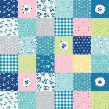 Penny Rose Fabrics ~ Strawberry Biscuit ~ Cheater Print Blue