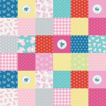 Penny Rose Fabrics ~ Strawberry Biscuit ~ Cheater Print Green