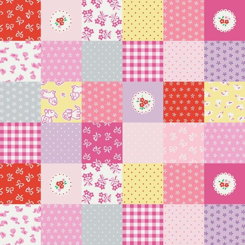 Penny Rose Fabrics ~ Strawberry Biscuit ~ Cheater Print Pink