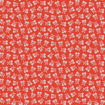 Penny Rose Fabrics ~ Strawberry Biscuit ~ Daisy Red