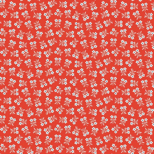 Penny Rose Fabrics ~ Strawberry Biscuit ~ Daisy Green