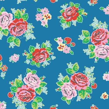 Penny Rose Fabrics ~ Strawberry Biscuit ~ Main Blue