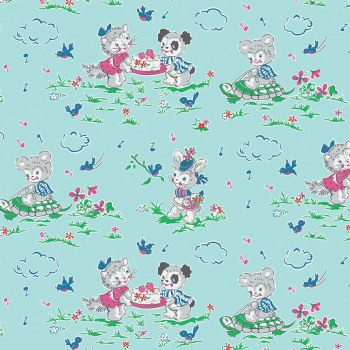 Penny Rose Fabrics ~ Strawberry Biscuit ~ Play Date Blue