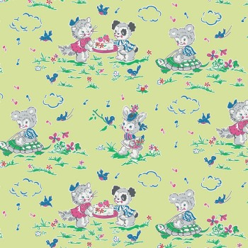 Penny Rose Fabrics ~ Strawberry Biscuit ~ Play Date Green