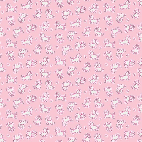 Penny Rose Fabrics ~ Strawberry Biscuit ~ Poodle Pink