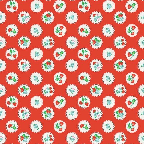 Penny Rose Fabrics ~ Strawberry Biscuit ~ Scallop Red