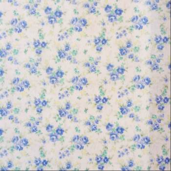 Sevenberry Fabric ~ Rosie Posie in Blue