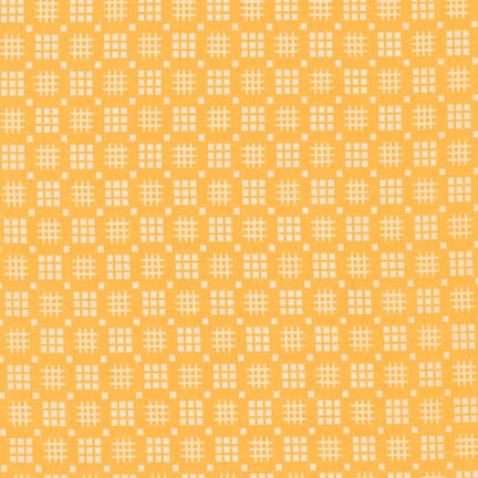 Robert Kaufman Fabrics ~ Morningside Farm ~ Tic Tac Toe Screamin' Yellow