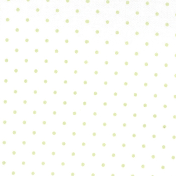 Moda Fabrics ~ Essential Dots ~ Dot in White with Spring Green Spots