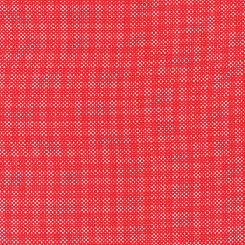 Moda Fabrics ~ Dotties ~ Tiny Dot in Red with White Spots