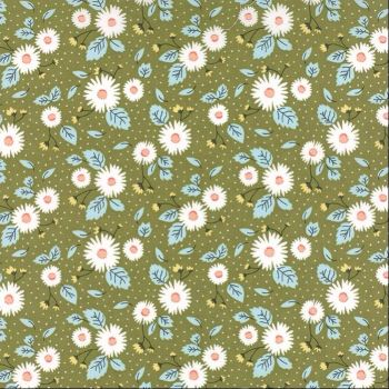 Moda Fabrics ~ Little Miss Sunshine ~ Fresh Daisies Leaf