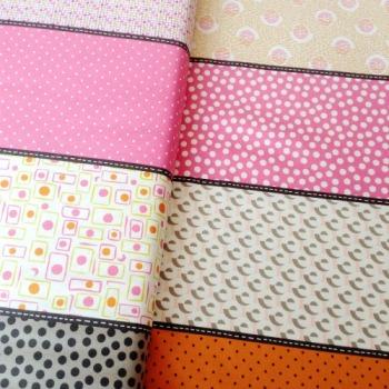 Moda Fabrics ~ Lollies ~ Luna Pink Ginger