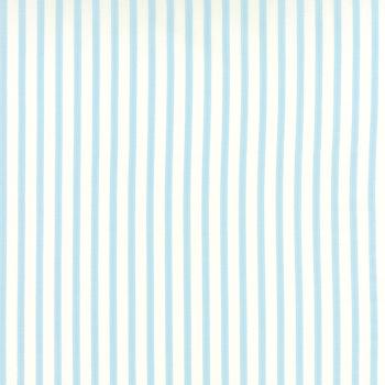 Moda Fabric ~ Bespoke Blooms ~ Ticking Stripe Rain