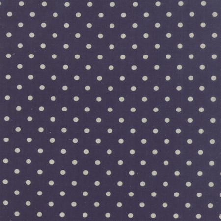 Moda Fabrics ~ Linen Mochi Dots ~ Navy
