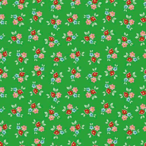 Riley Blake ~ Backyard Roses ~ Bouquet Green