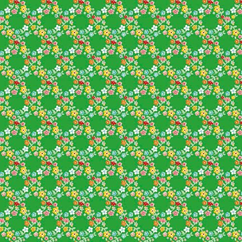 Riley Blake ~ Backyard Roses ~ Wreath Green