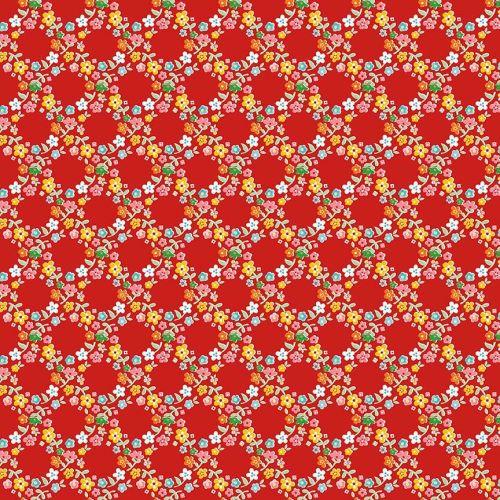Riley Blake ~ Backyard Roses ~ Wreath Red