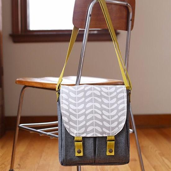 Noodlehead Patterns ~ Campfire Messenger Bag