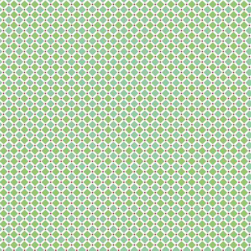 Riley Blake Fabric ~ Cozy Christmas ~ Square Green
