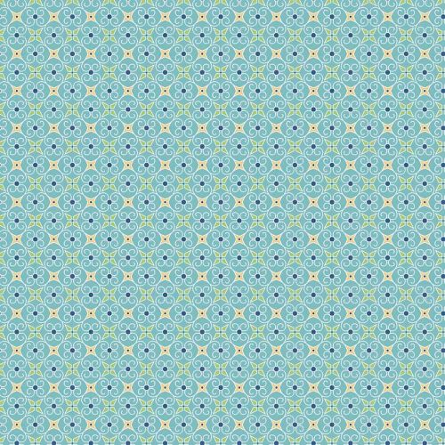 Riley Blake Fabric ~ Cozy Christmas ~ Wrapping Paper Blue