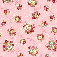 Lecien Fabric ~ Old New 30's ~ Posies Pink