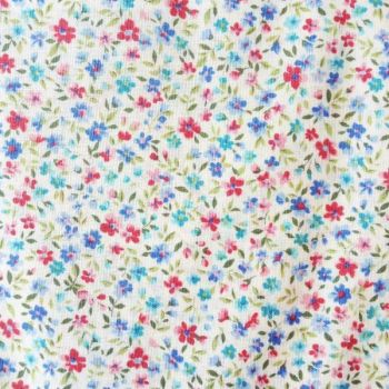 Sevenberry Fabric ~ Flower Garden Blue and Pink