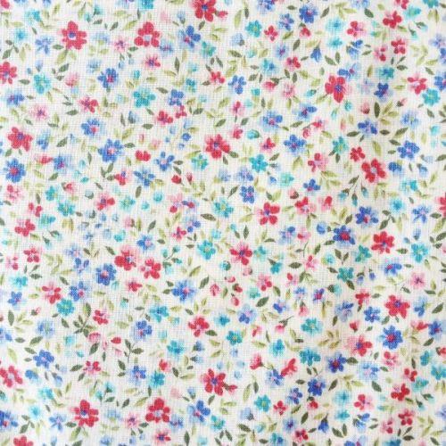 Sevenberry Fabric ~ Flower Garden Blue and Pink