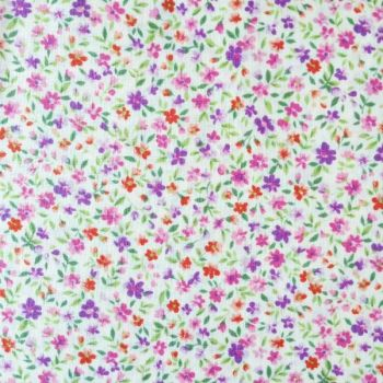 Sevenberry Fabric ~ Flower Garden Purple and Pink