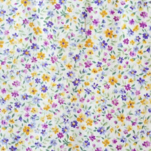 Sevenberry Fabric ~ Flower Garden Purple and Yellow