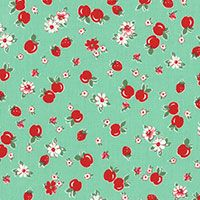 Lecien Fabric ~ Retro 30's ~ Apples and Strawberries Aloe